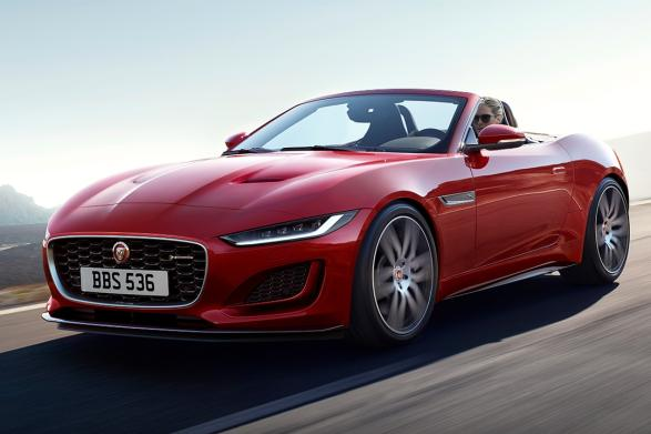 Rotes F-TYPE Cabriolet